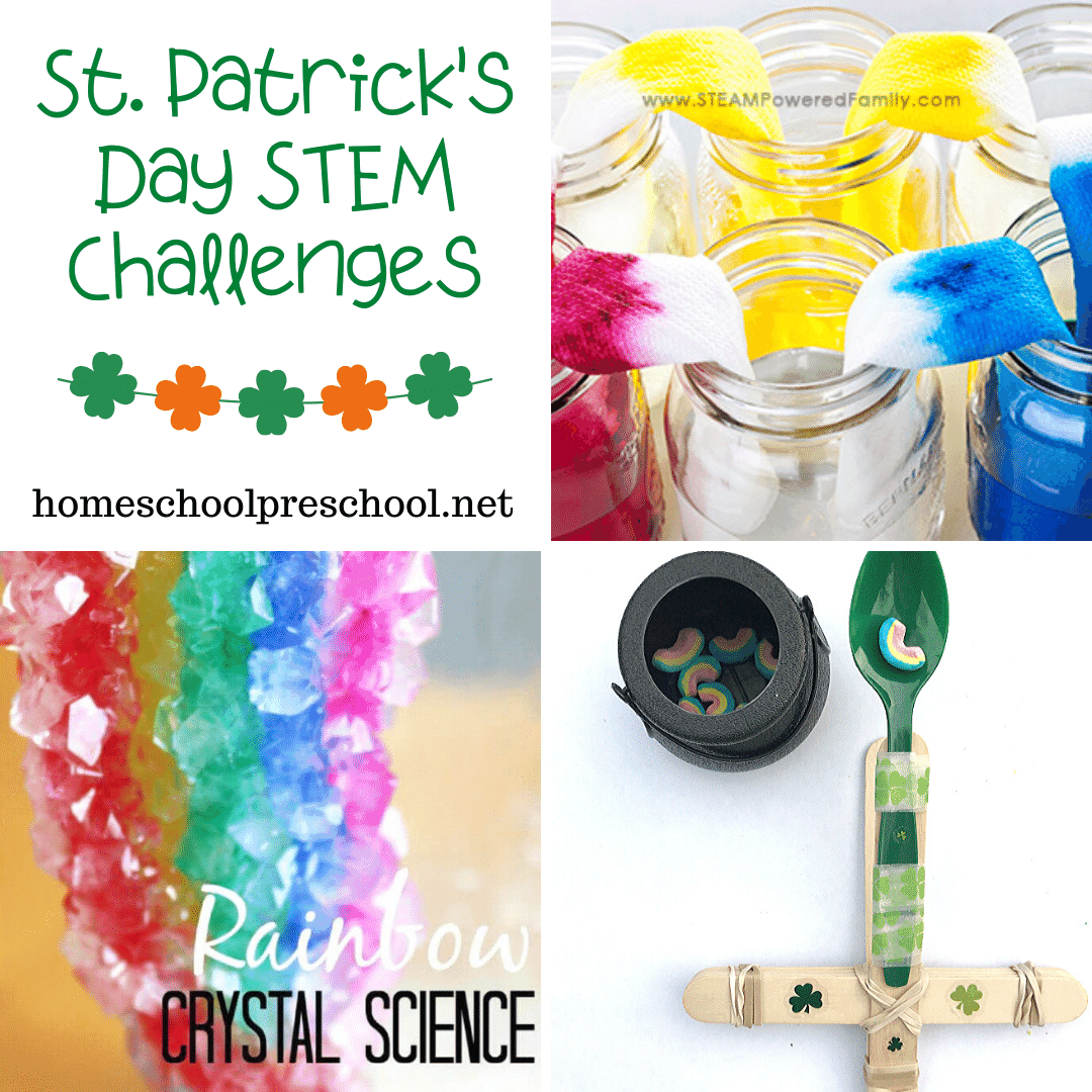 Discover 22 St Patrick's Day STEM activities that are perfect for preschoolers! Find Skittle science, walking rainbows, catapults and more.