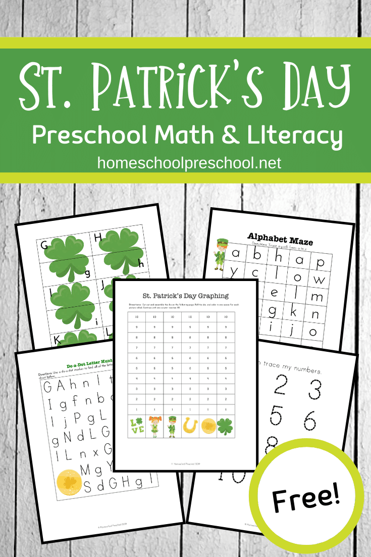 These free St Patrick's Day printables are sure to keep your preschoolers engaged in the learning process through the month of March.