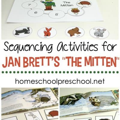 The Mitten Story Sequence Activities