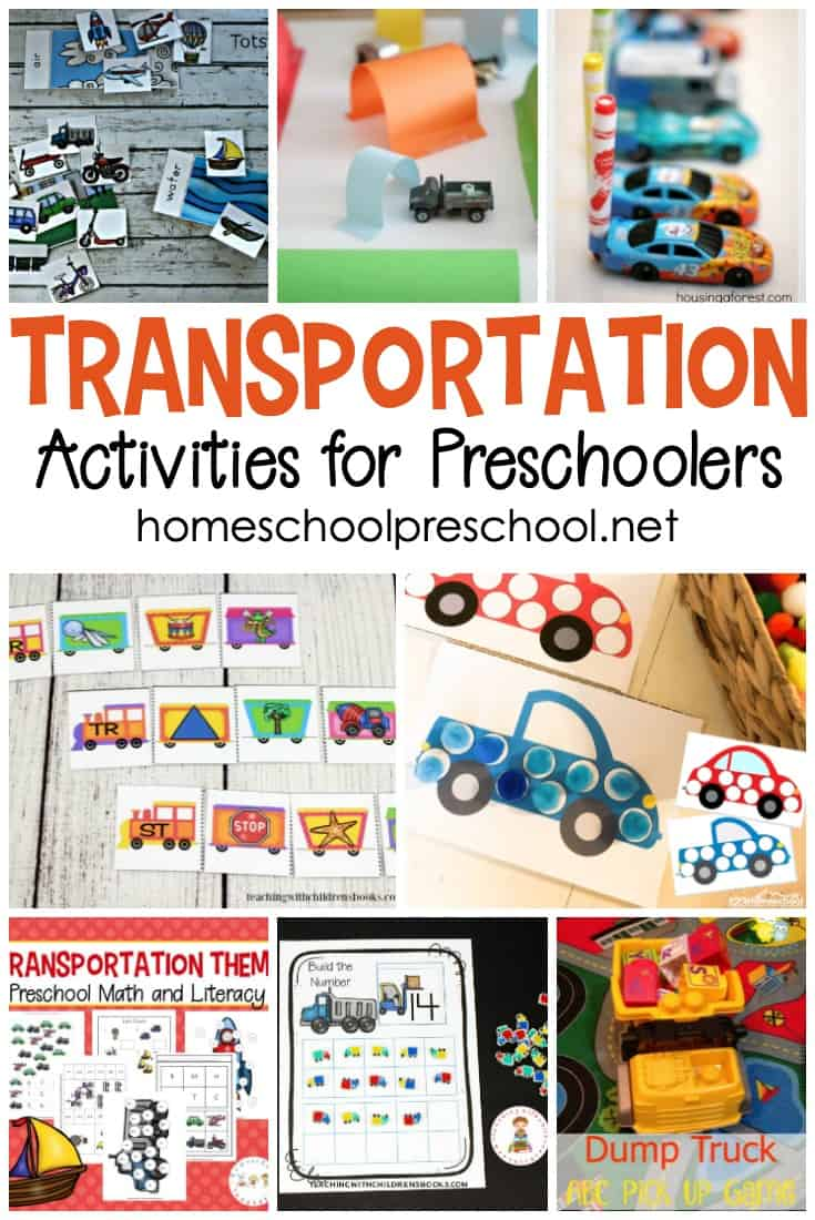 Your little learners are going to love these transportation activities for preschoolers! Hands-on fun for math, literacy, science, and more!