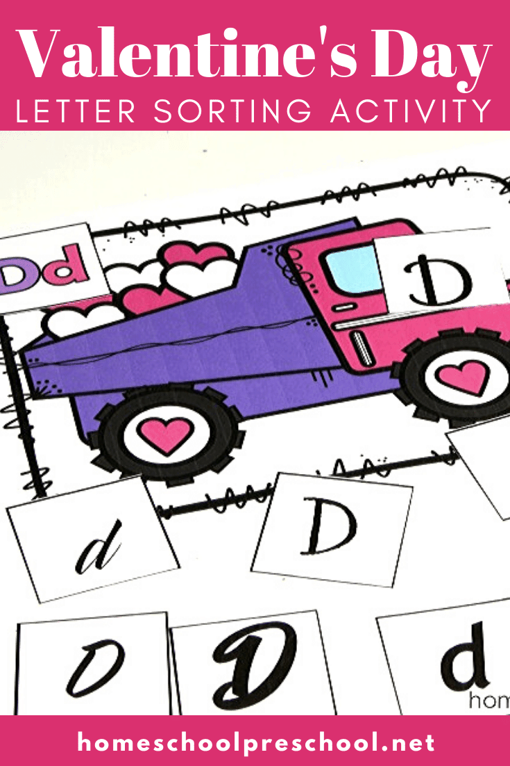 Construction-themed Valentine letter sorting mats are perfect for your Valentine's Day literacy centers! Letter recognition fun for little ones!