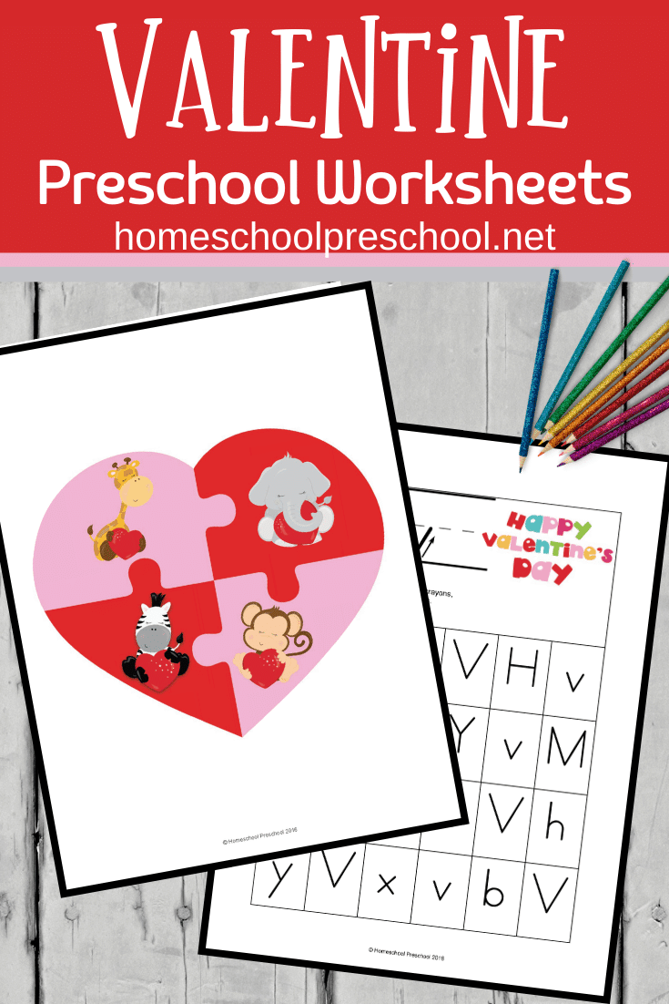 These preschool Valentines Day worksheets are sure to put your little ones in the mood to learn while they celebrate the ones they love!