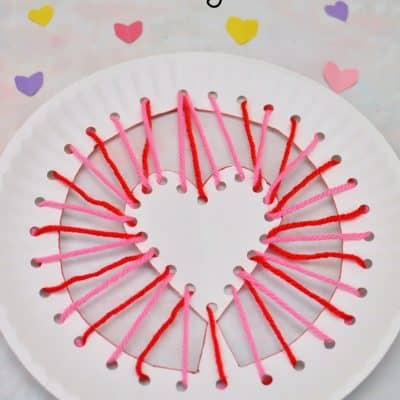 Valentine's Day Paper Plate Craft for Kids