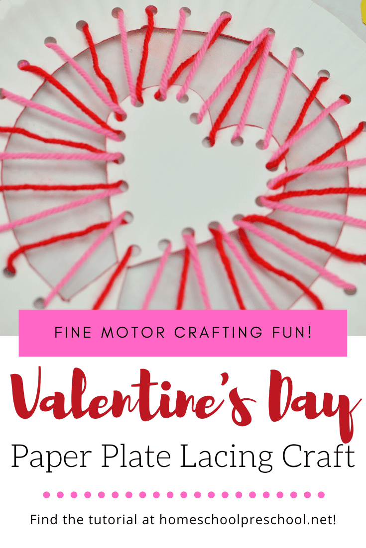 I love this Valentine's Day paper plate craft for kids. It combines motor skill practice with a fun holiday craft that preschoolers will enjoy.