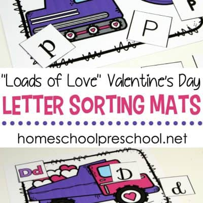 Valentine's Day Letter Sorting Mats