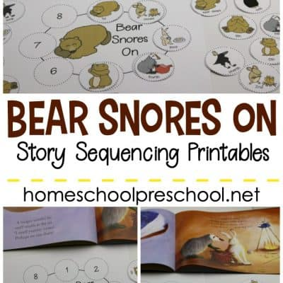 Bear Snores On Sequencing Cards