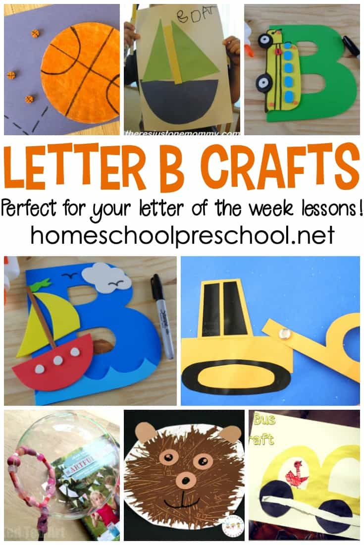 "Don't miss this amazing collection of crafts to teach Letter B featuring 20 different ""Bb"" words! They're perfect for your Letter of the Week plans!"