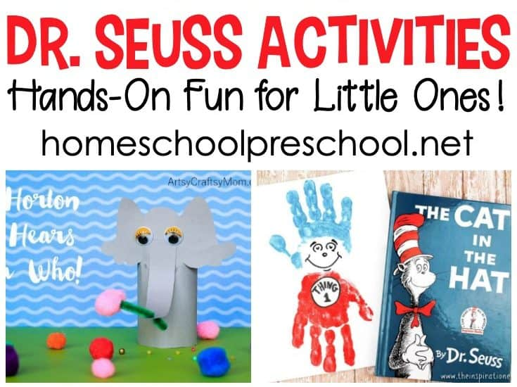 No preschool year is complete without a focus on Dr. Seuss! These Dr Seuss activities will help bring his best stories to life for your little ones.