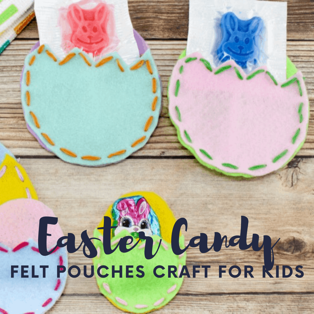 Are you looking for a unique Easter craft for preschoolers? Let them practice lacing this felt Easter egg pouch craft. Then fill them with candy!
