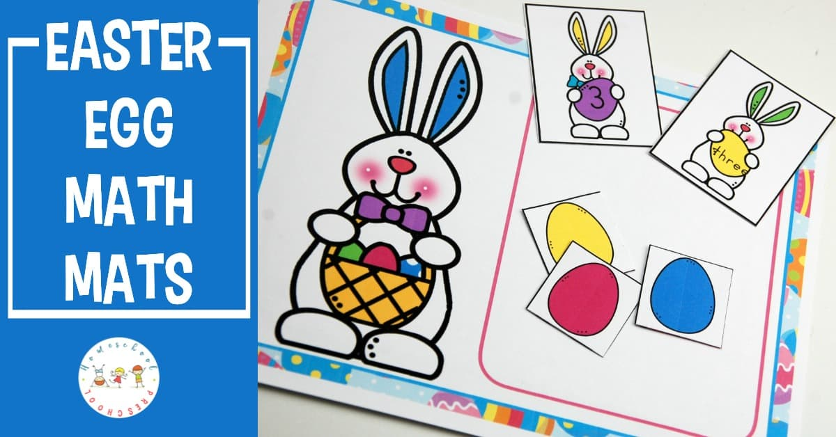 Your preschoolers will love counting to ten with these Easter egg math mats! Focus on number recognition, number words, and counting.