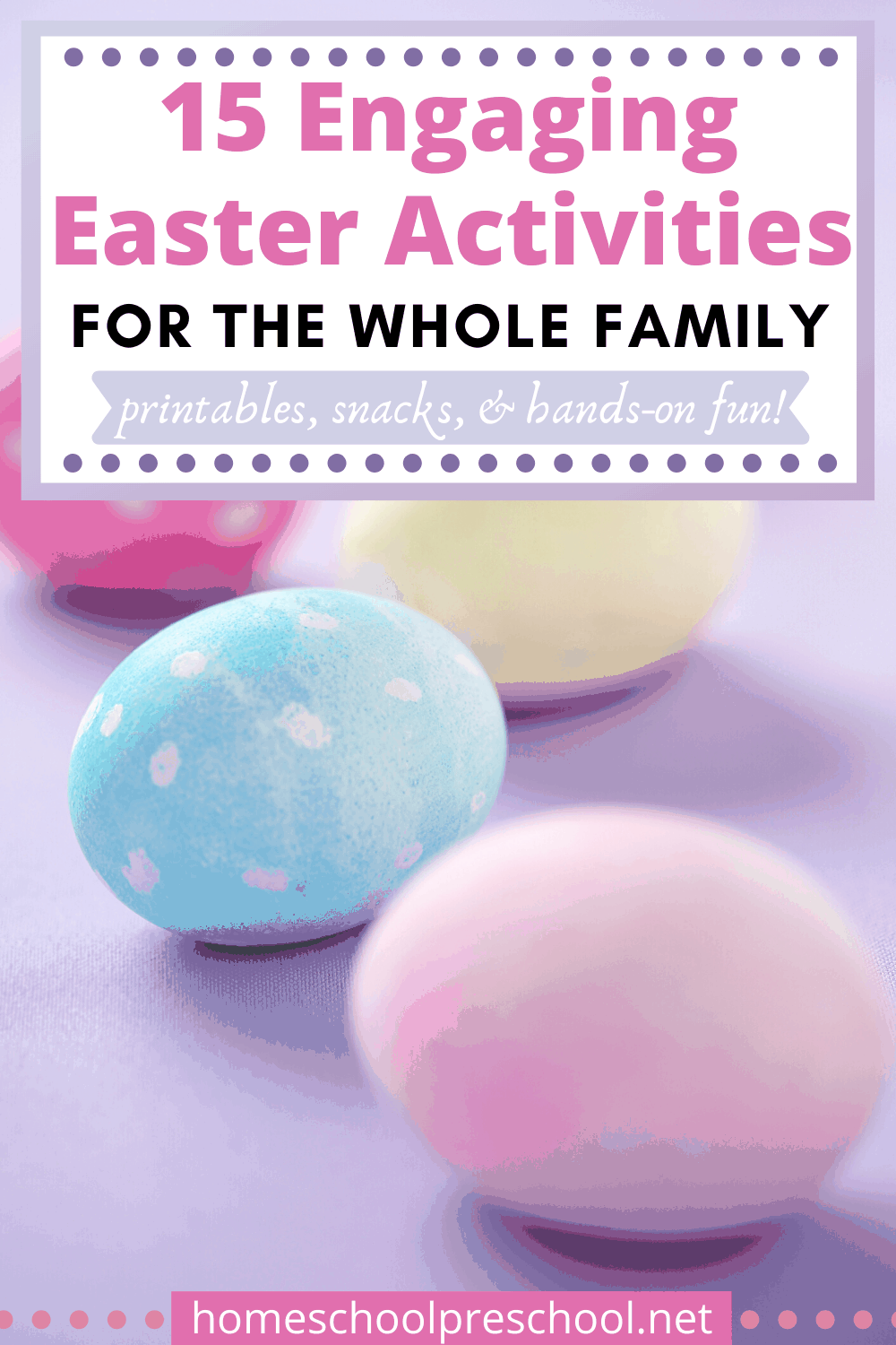 Enjoy these preschool Easter activities as a family as you learn more about spring, Jesus, and the real meaning of Easter!