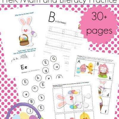 Easter Printable Learning Pack for Preschoolers