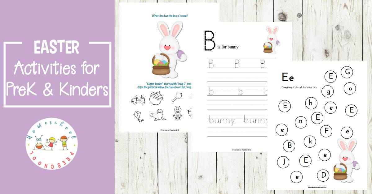 picture about Printable Easter Activities called Free of charge Easter Printable Discovering Pack for Preschoolers