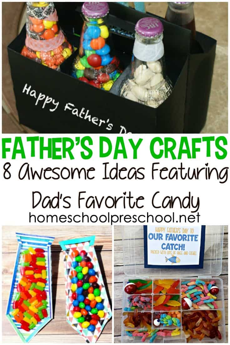 This Father's Day, have your kids make Dad one of these fun Fathers Day craft ideas! Each of them feature candy making the ideas extra sweet!