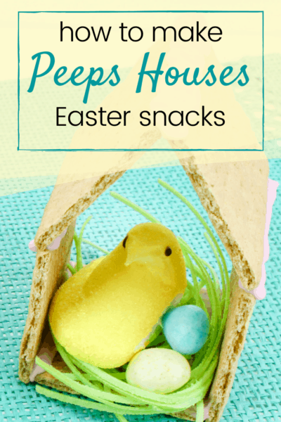 This adorable Peeps preschool Easter snack is so easy to make! Kids will love helping you assemble (and eat) this sweet treat.