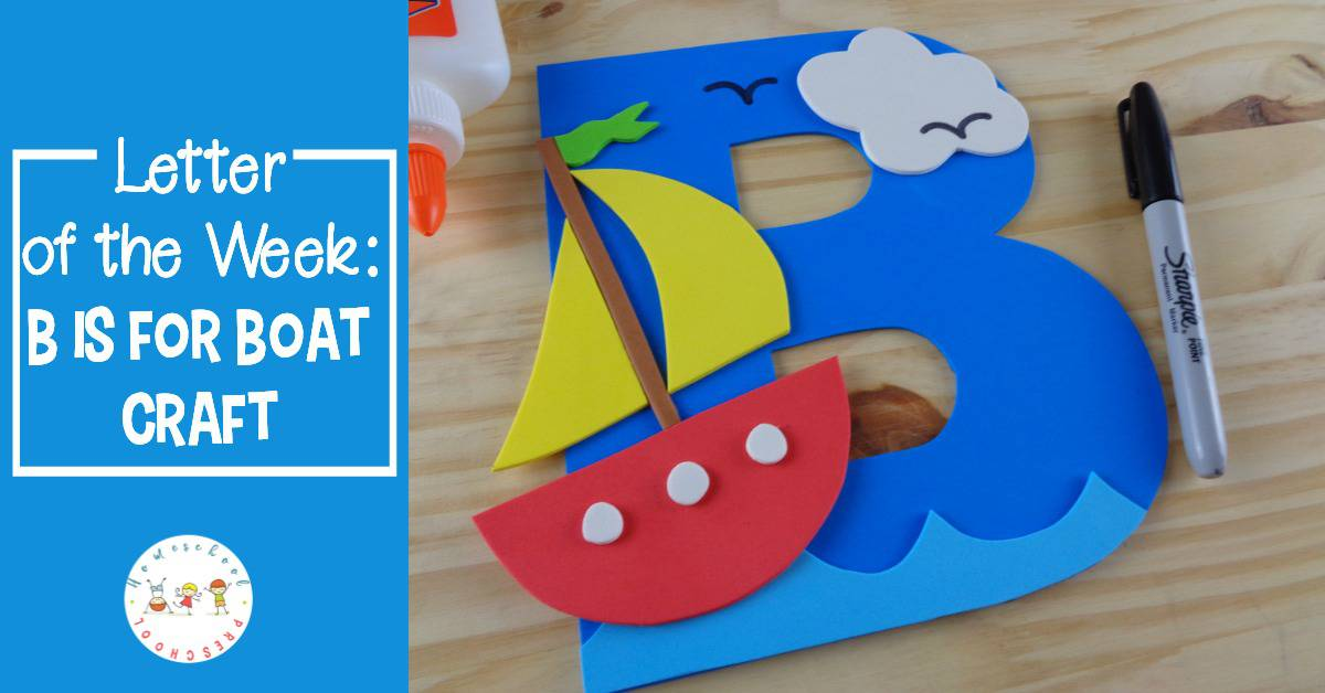 This preschool boat craft is perfect for your upcoming letter of the week lessons. You can also add it to your transportation and ocean units.