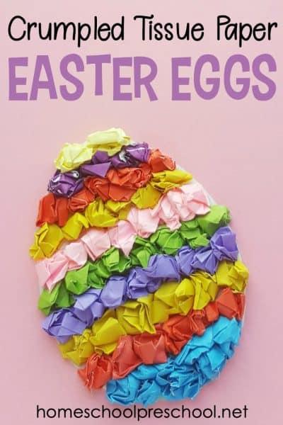 Tissue Paper Egg Preschool Easter Craft