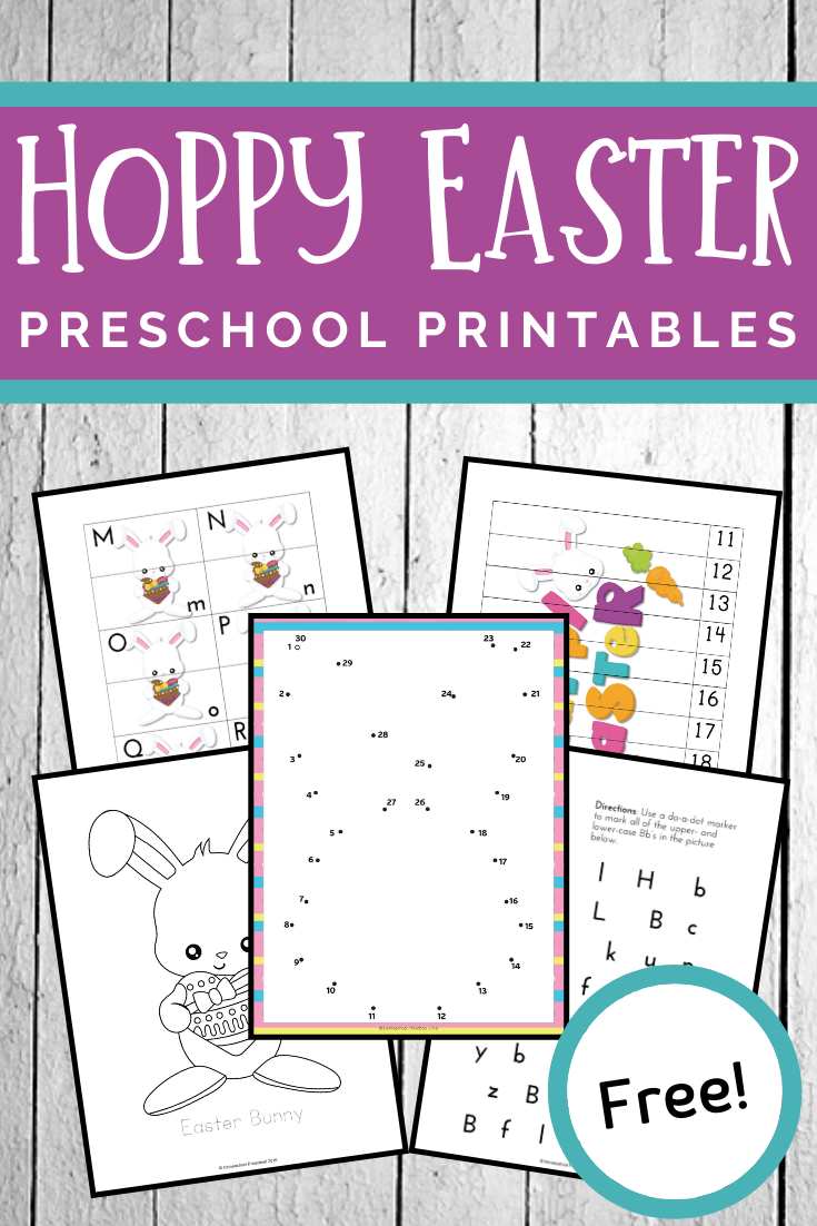Easter is just around the corner, and there is no better way to get your preschoolers in the mood than with these printable Easter activities!