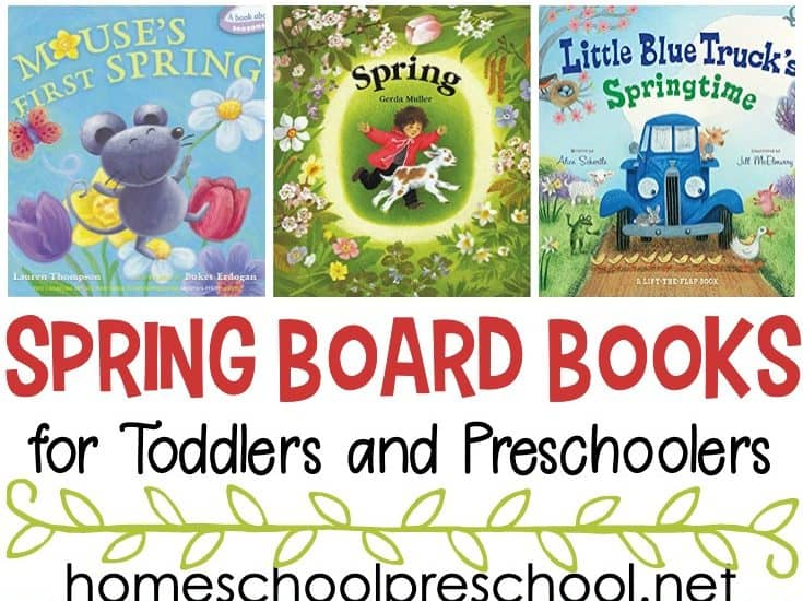 Check out this list of spring books for toddlers! These board books are perfect for toddlers and preschoolers to read this spring.