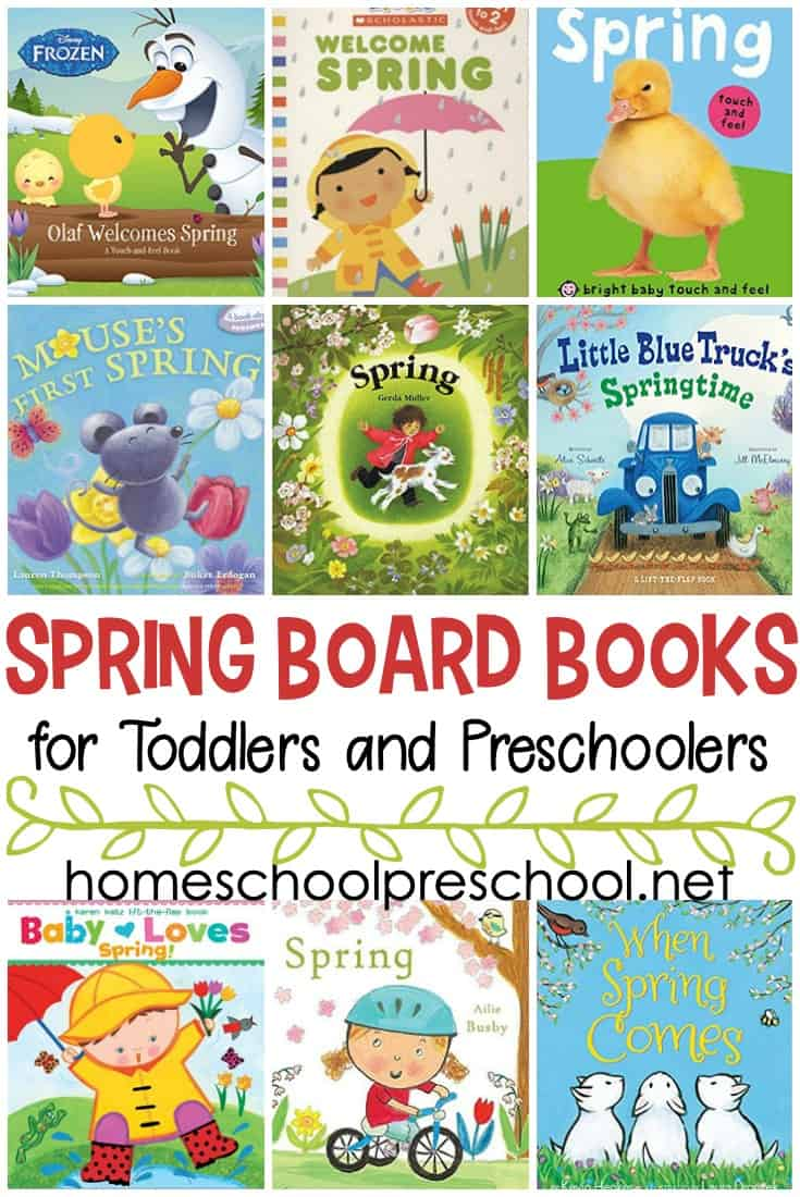 Check out this list ofspring books for toddlers! These board books are perfect for toddlers and preschoolers to read this spring.