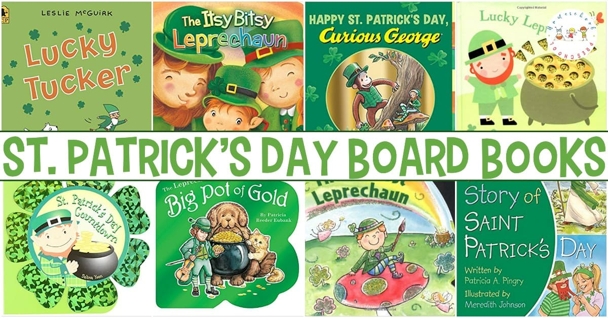 Check out this list ofSt Patrick's Day books for toddlers! These board books are perfect for toddlers and preschoolers this spring.