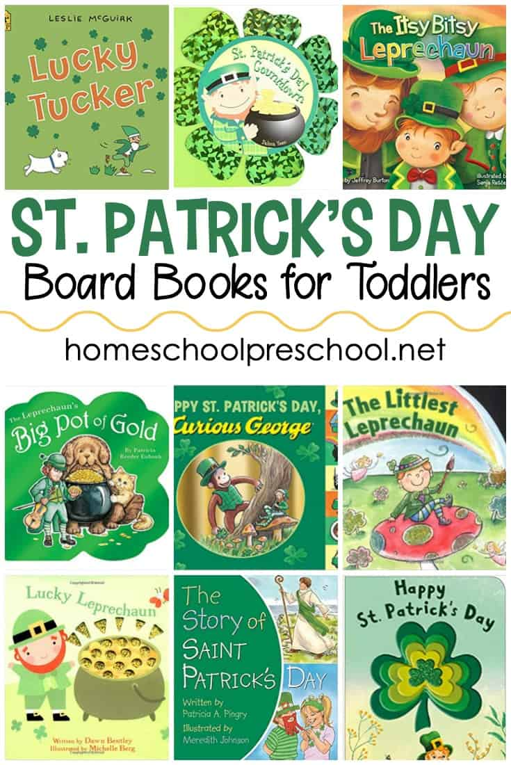 Check out this list of St Patrick's Day books for toddlers! These board books are perfect for toddlers and preschoolers this spring.