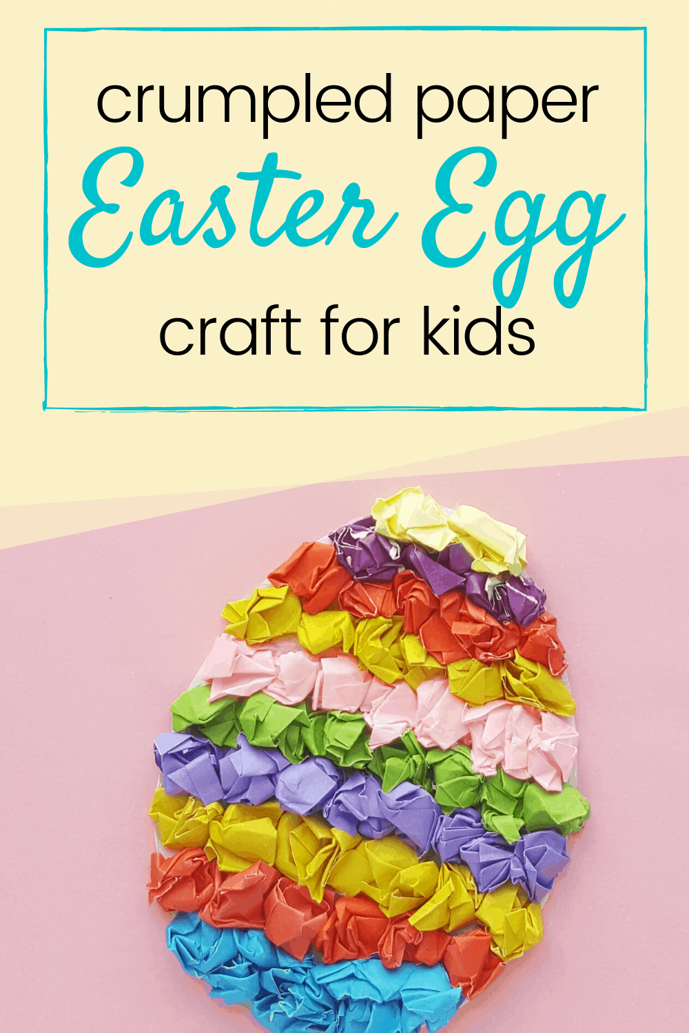 These textured tissue paper Easter eggs are adorable! This easy preschool Easter craft uses just a few craft supplies that you've already got on hand.