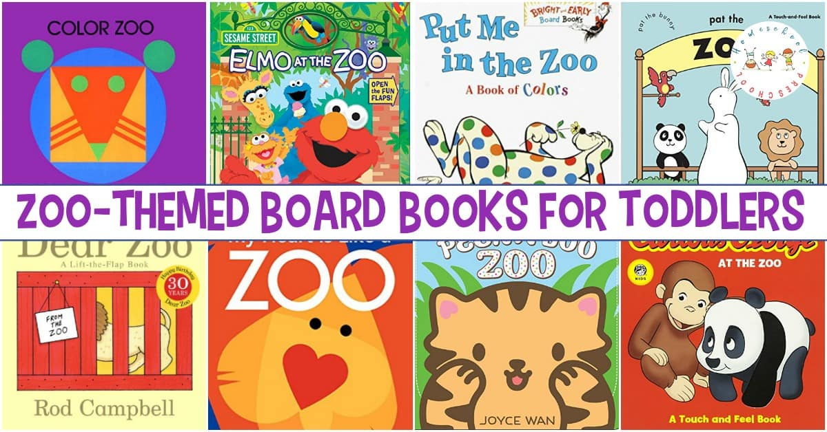 Board books are perfect for toddlers! They're much sturdier than traditional books. These zoo books for toddlers help introduce tots to zoo animals.