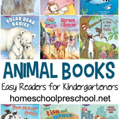 Easy Reader Animal Books for Kindergarten