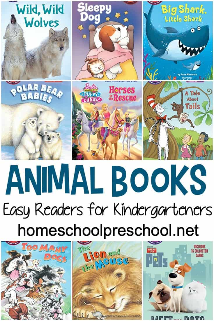 This list of easy reader animal books for kindergarten is perfect for new readers. With short sentences and large print, kids can practice reading with their favorite animal stories!