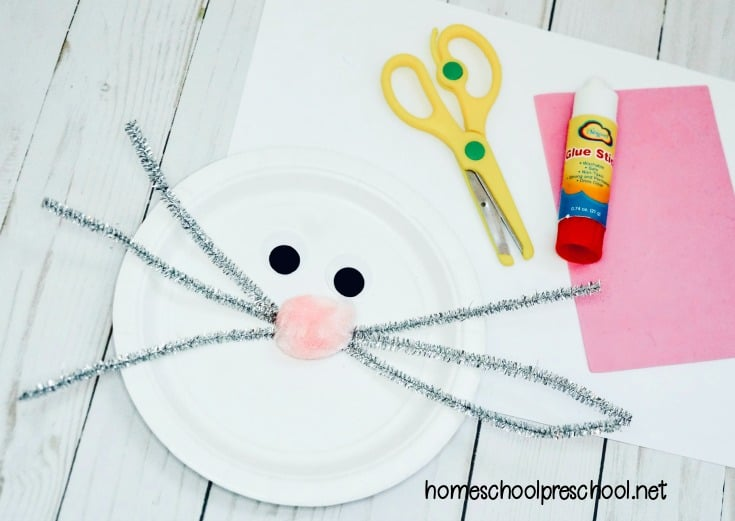 This bunny paper plate craft is perfect for your upcoming spring and Easter plans! It simple enough for even your youngest crafters to make.