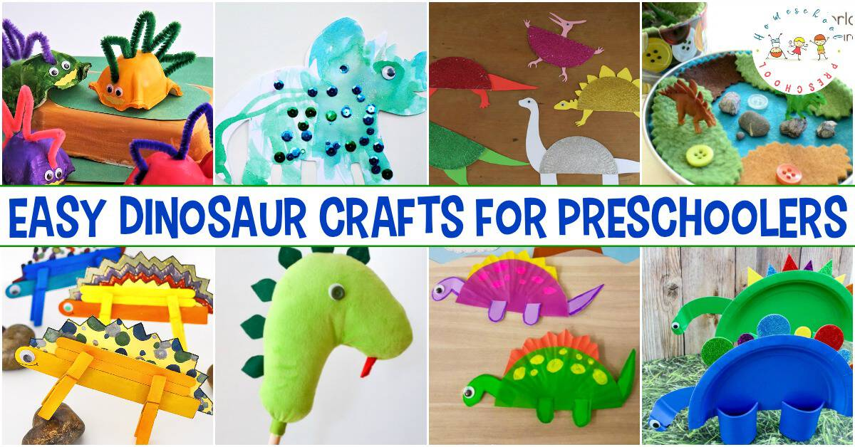 Your little crafters will adore these easy dinosaur crafts for preschoolers! Each one will encourage creativity and imaginative play.