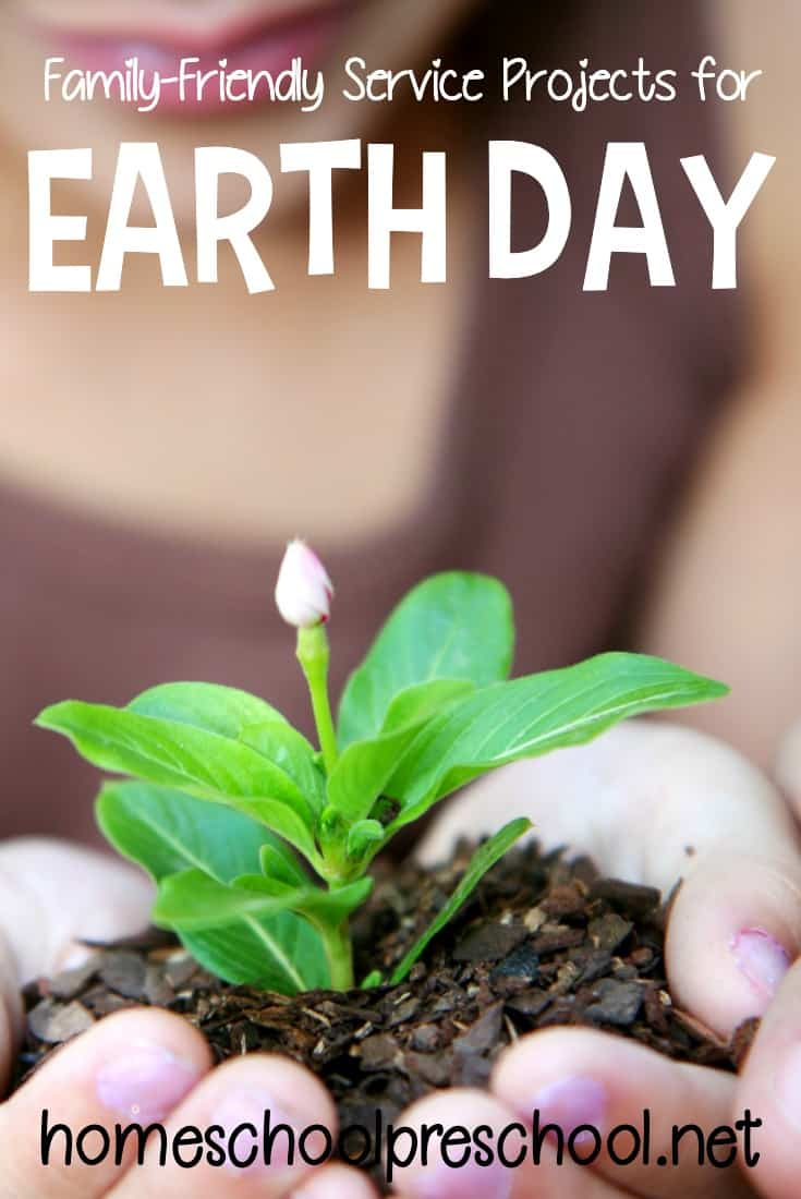 This Earth Day take your preschoolers out to do one of these five Earth Day service projects the whole family can participate in!