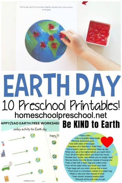 These Earth Day worksheets for preschoolers will help your preschoolers learn more about the planet Earth and how best to take care of it.