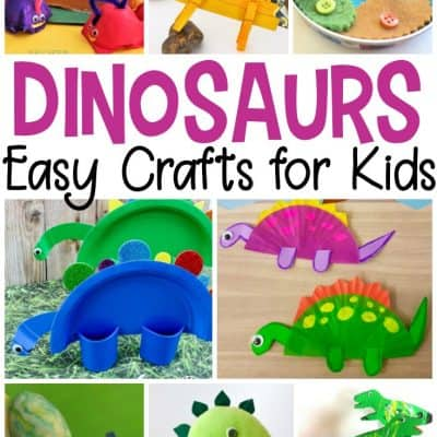25 MORE Easy Dinosaur Crafts for Preschoolers