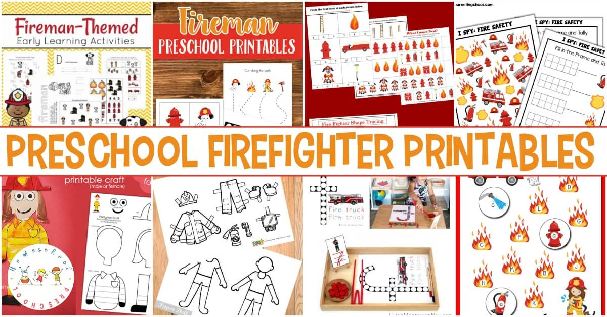Free Firefighter Printables for Preschool and Kindergarten