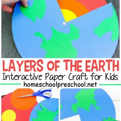 Layers of the Earth Preschool Craft