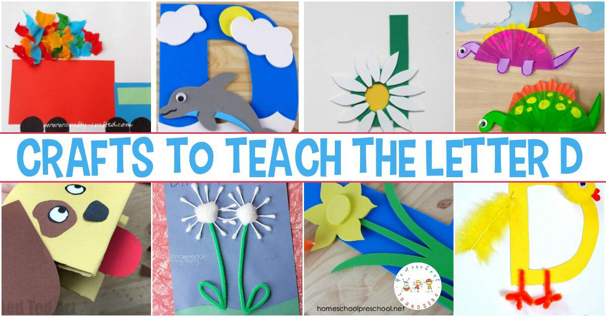 Don't miss this amazing collection of crafts to teach Letter D! They're perfect for your upcoming Letter of the Week and general PreK activities!