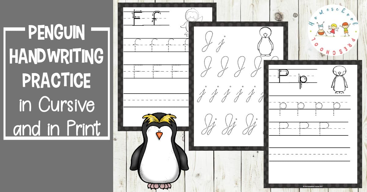 Celebrate World Penguin Day with some printable ABC handwriting practice pages. Available in both cursive and print for all ages!