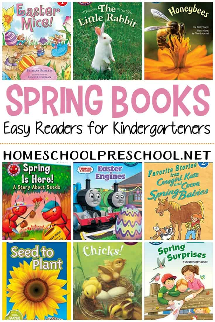 As your learn to read, provide them with a selection of Easy Reader spring books for kindergarten readers. They'll love reading on their own with these fun stories.