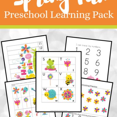 Free Spring Printables for Preschool
