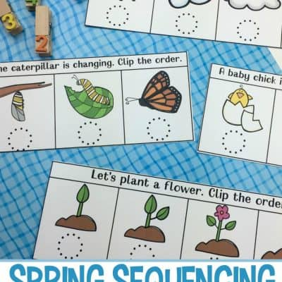 Spring Sequencing Cards Printable