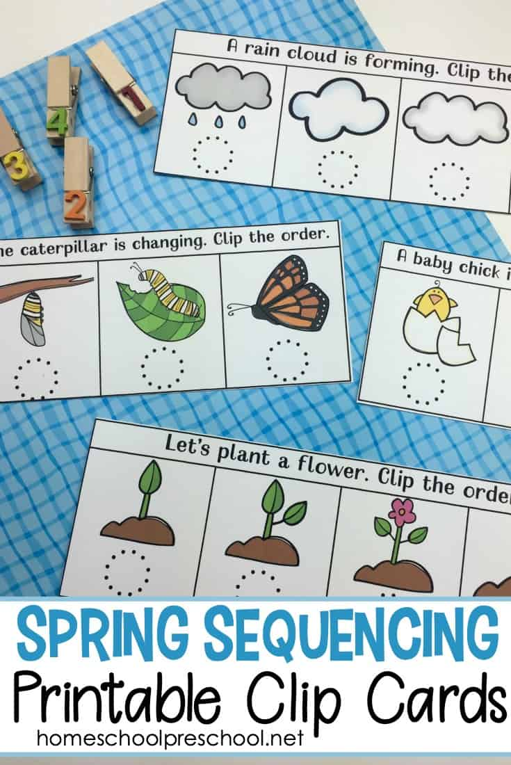image relating to Printable Sequencing Cards named Cost-free Spring Sequencing Playing cards Printable for Preschoolers