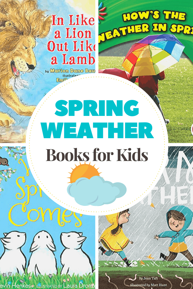 Rainbows, windy days, and spring showers. These spring weather books for preschoolers will help them learn more about the weather this time of year.