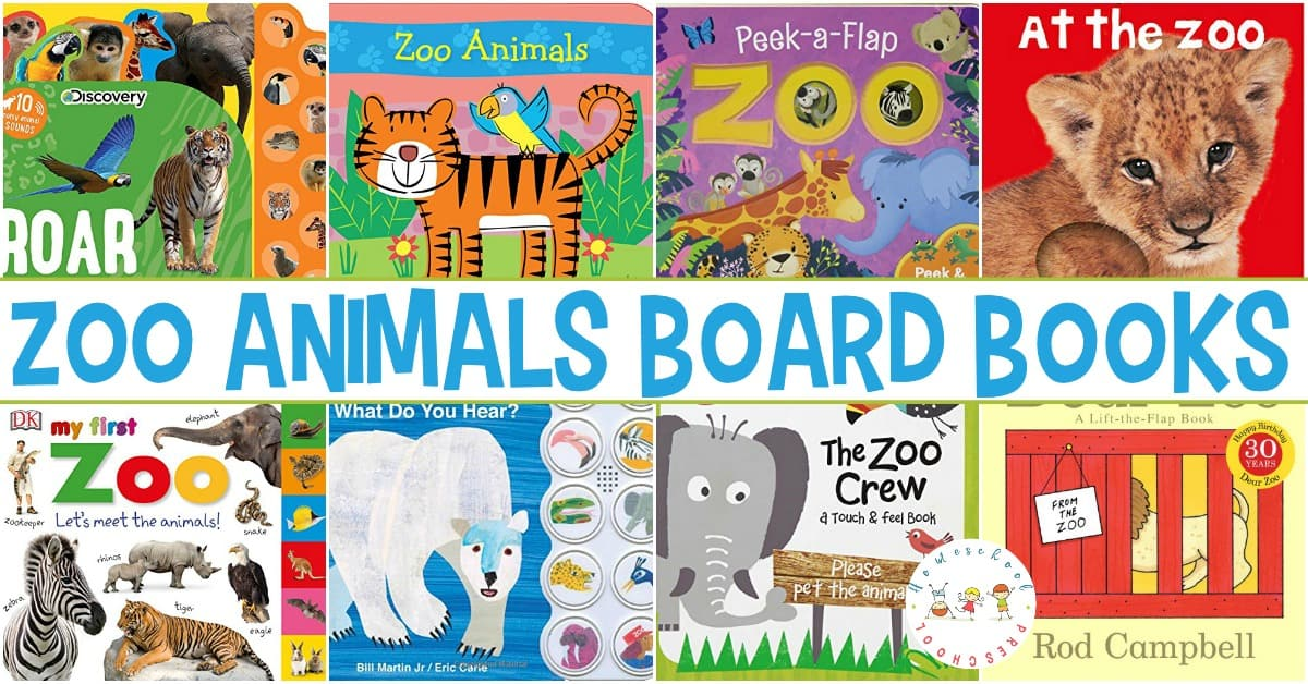 Zoo animal books for toddlers! Board books that toddlers can hold and manipulate as they learn about zoo animals around the world!