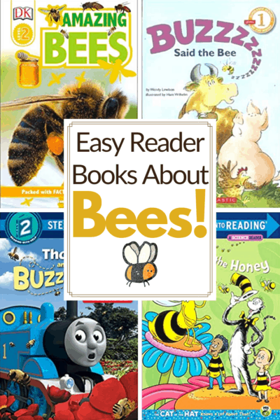 Check out this list of easy reader bee books for kindergarten! Short sentences and large print help kids practice reading with their favorite bee stories!