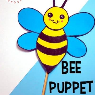 Printable Bee Craft for Preschoolers