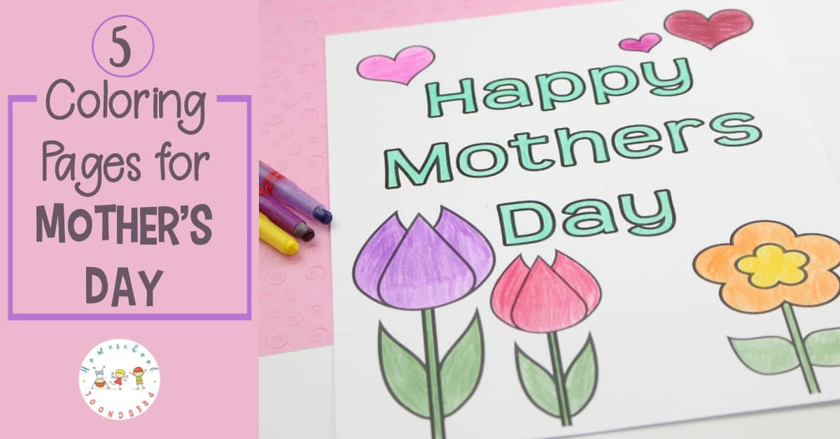 Free Printable Mothers Day Coloring Pages And Bookmarks