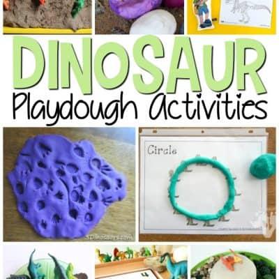Dinosaur Play Dough Activities