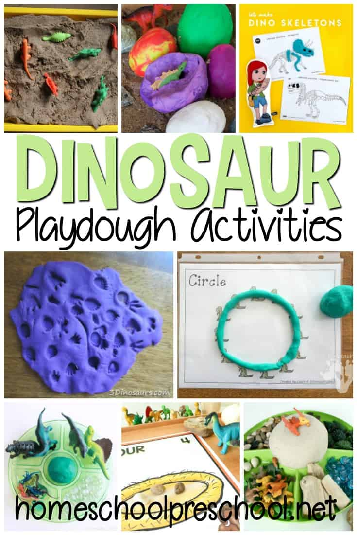 Engage your children with these dinosaur play dough activities. So many great ideas for hands-on fun for dinosaur lovers of all ages!